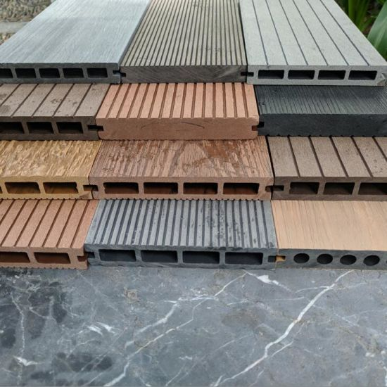 Fireproof WPC Decking Hollow Composite Decking Board Wpcindoor WPC Floor Wood