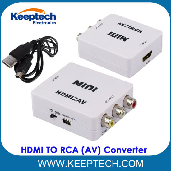 Hot Sale Mini HDMI to RCA 1080P HDMI to AV Converter for DVD VCR