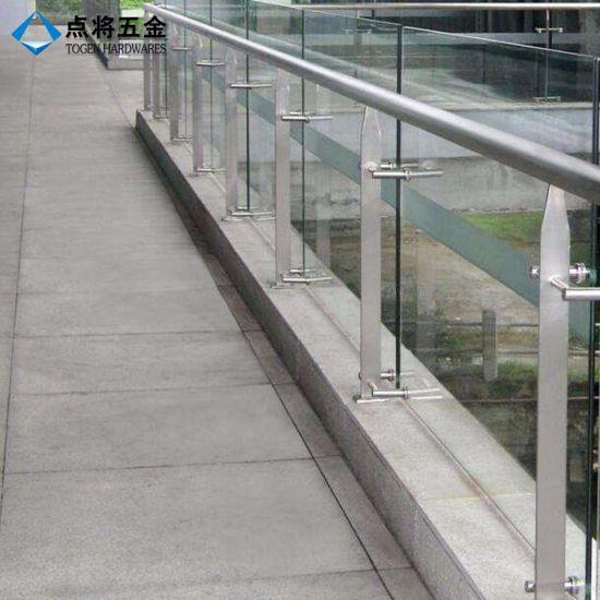 Modern design veranda glass balustrade post with factory price