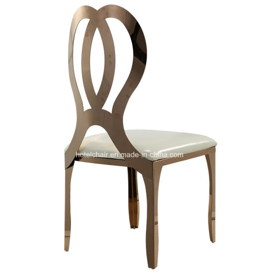 China Infinity Gold Stainless Steel Wedding Dining Chair