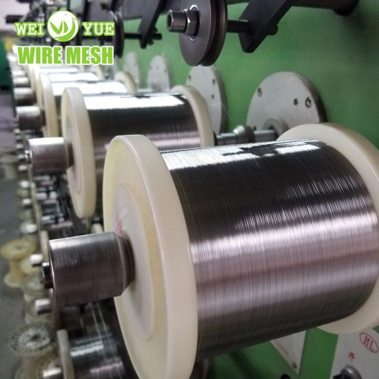 Ultra Thin Bright Annealed Stainless Steel Weaving Wire Thread Used for Cut Resistant Gloves