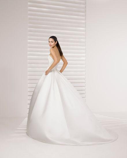 63105bc9ad24 Beading Lace Top with Long Sleeve Bolero Jacket Pocket Satin Wedding Dress