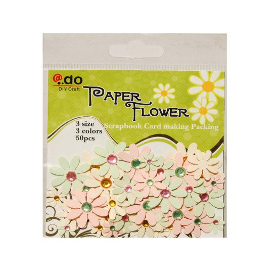 paper flower wih gems assorted bag for card making f2 2 2
