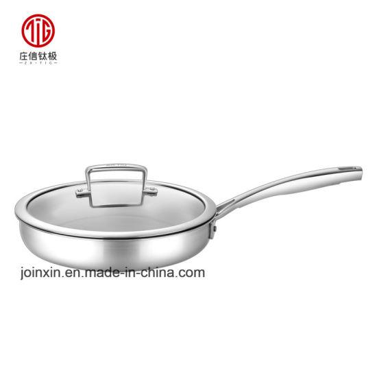 8/10/12 Inch High Quality Healthier Non-Stick Round Titanium Frying Pan