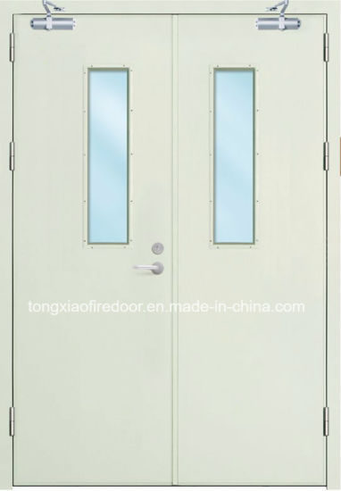China Commercial Fire Double Leaves Doors and Frames with Fire ...