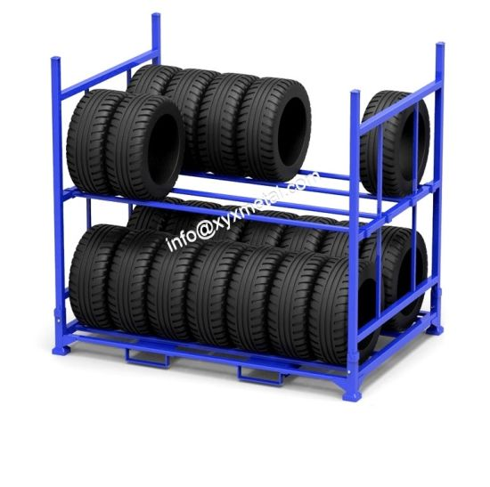 Double Tiers Two Layers Tire Foldable Rack