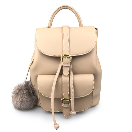 Wholesale Lady Small Satchel Bag Genuine Nappa Leather Backpack
