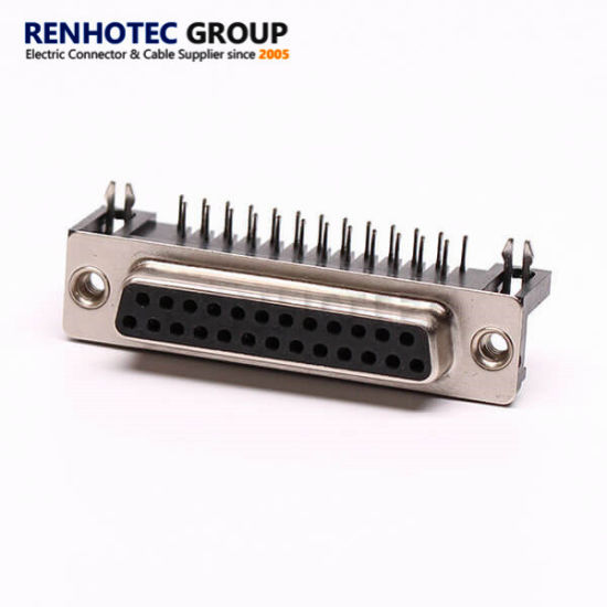 25 Pin D Sub Connector Female Right Angle for PCB Connector