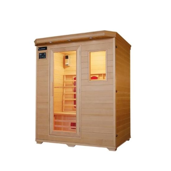 Factory Supply Luxury Home Sauna Far Infrared Sauna Room for 3 People Qd-B3