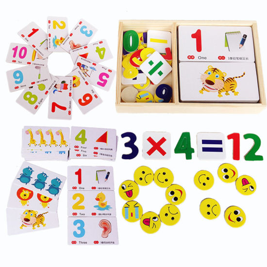 Baby Educational Wooden Cassette Arithmetic Digital Number Recognition Card Gifts Jigsaw Toy