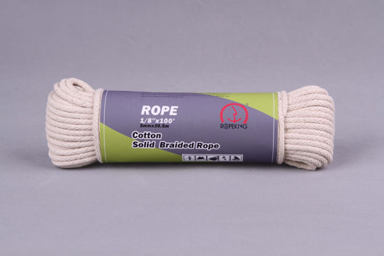 Cotton Sash Cord with Solid Braided Structure