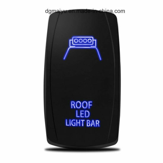 Dual LED Backlit Laser Etched LED LIGHT BAR Rocker Switch With Mounting Panel
