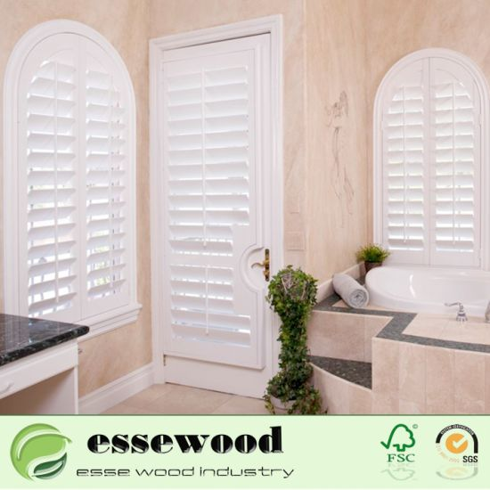Factory Direct Sale Wood and PVC Vinyl Plantation Interior Shutters with Various Design