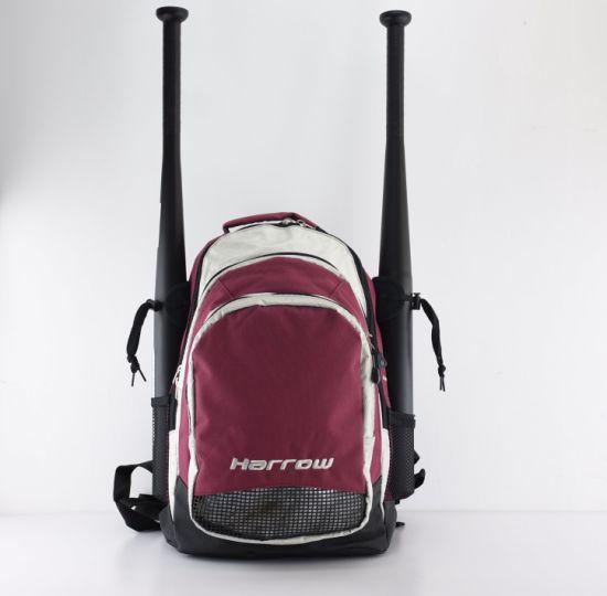 Custom New Design Red Baseball Bag Softball Backpack Bat