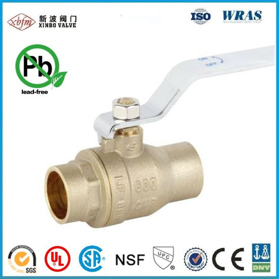 600 Cwp CSA UL Lead Free Brass Welding Ball Valve pictures & photos