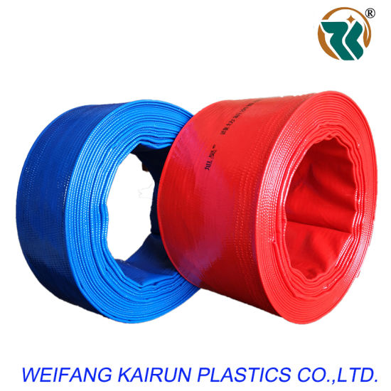 Polyester Fiber Reinforced High Pressure W. P. 6bar PVC Layflat Hoses