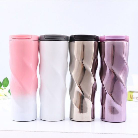 c5d4882ea26 500ml Twist Cup 304 (18/8) Stainless Steel Cups Double Wall Insulated  Starbuck