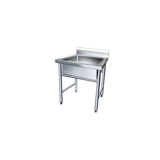 Stainless Steel Commercial Fish Cleaning Kitchen With Sink Work Table