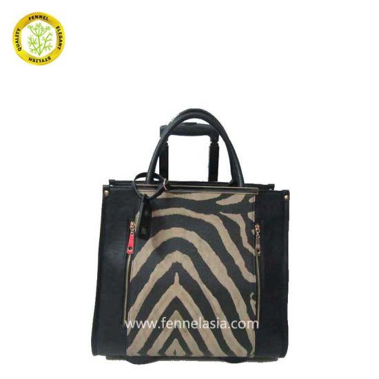 China Hot Selling Zebra Print Pull Rod Fashion Trolley Bag (FE4051 ... 14ce94f1585