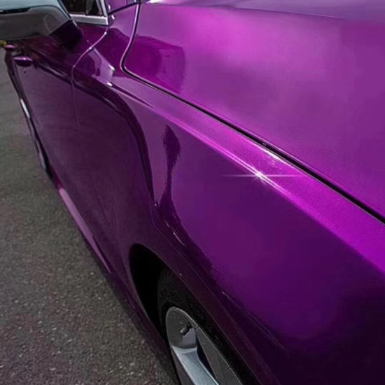 Purple Full Car Body Sticker Bubble Free Crystal Metal Super Glossy PVC  Self Adhesive Vinyl