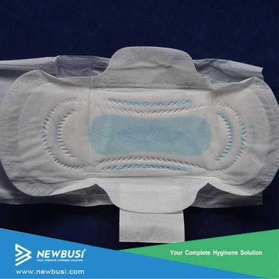 Customized Brand Name Stayfree Blue Chips Ladies Panty Herbal Women  Pads/Sanitary Napkins