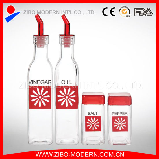 Wholesale Square Cooking Oil Glass Bottle pictures & photos