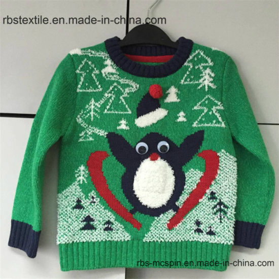 Girls Intarsia Jumper - True Kids Knitted Sweater pictures & photos
