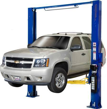 Two Post Clear Floor Gantry Car Lift with Ce Certification