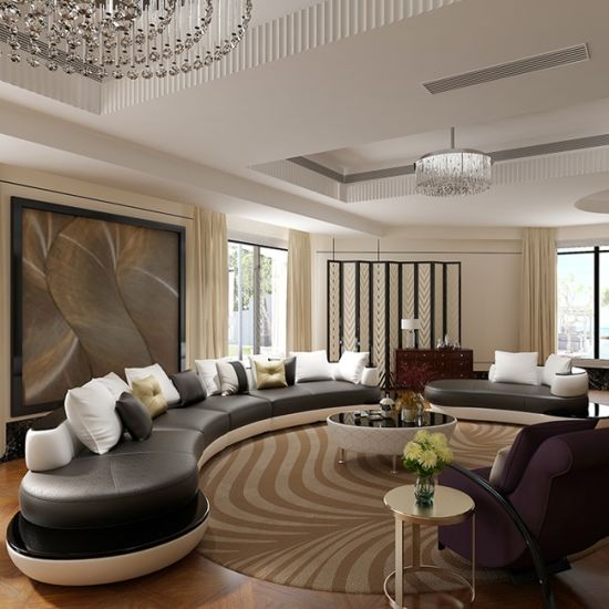 Superb Italian Style Half Moon Shape Sectional Sofa S8021 Machost Co Dining Chair Design Ideas Machostcouk