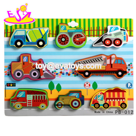 Timy 4-in-1 Wooden Jigsaw Puzzle for Kids Toddler Engineering Vehicles Puzzles