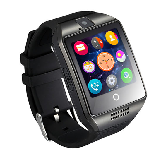 SIM Card Q18 Smart Watch with Camera Fitness Tracker Smartwatch pictures & photos