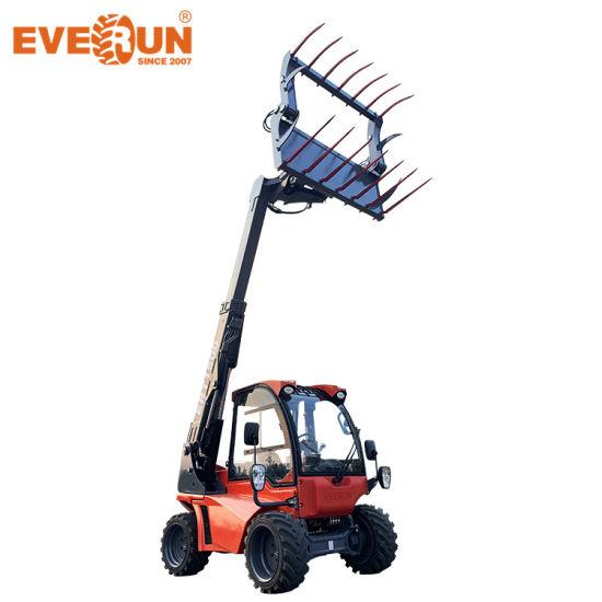 Everun Ert1500 Chinese CE Small Telehandler Telescopic Boom Handler Compact Front End Portable Construction Farm Garden EPA Mini Wheel Loader Made in China
