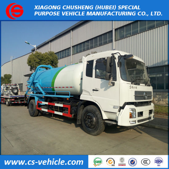 Dongfeng 4X2 6-8 Cubic Meters Vacuum Fecal/Sewage Suction Truck