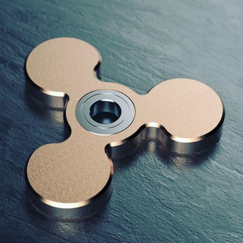 High Quality Popular ABS Plastic EDC Tri Desk Fidget Spinner Toy pictures & photos