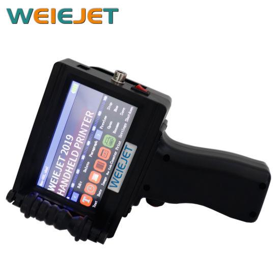 Handheld Inkjet Printing Printer for Date Qualified Bar Code/Carton/PVC/Paper/Plastic Bag