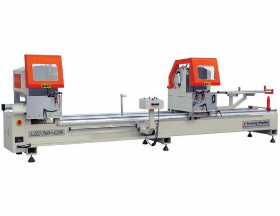 Aluminum UPVC PVC Profile Double Head Cutting Saw Machine