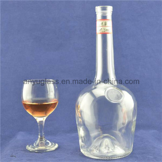 Fashion Clear Shaped Whisky, Rum, Vodka, Brandy, Liquor Glass Bottles pictures & photos