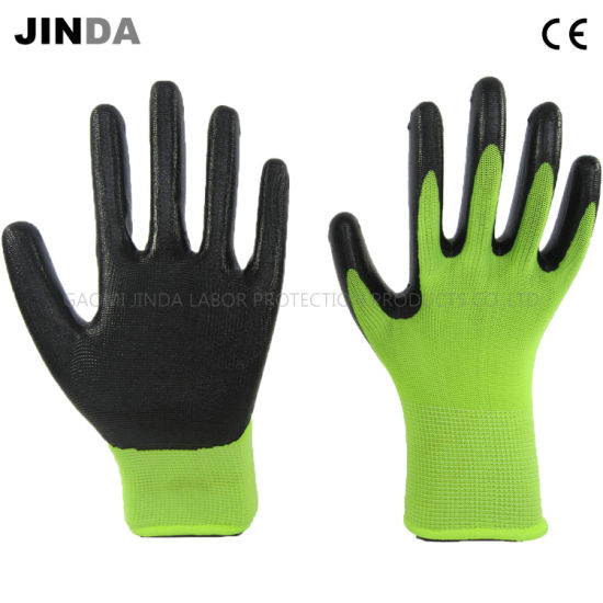 Nitrile Coated Industrial Labor Protective Safety Work Gloves (NS006)
