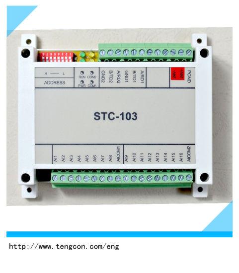 China 16 Channel Analog Input Modbus Io Expand Module Stc-103 with