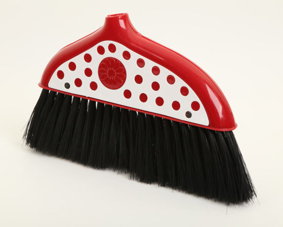 Plastic Broom with Wooden or Plastic Handle (No. 2112)