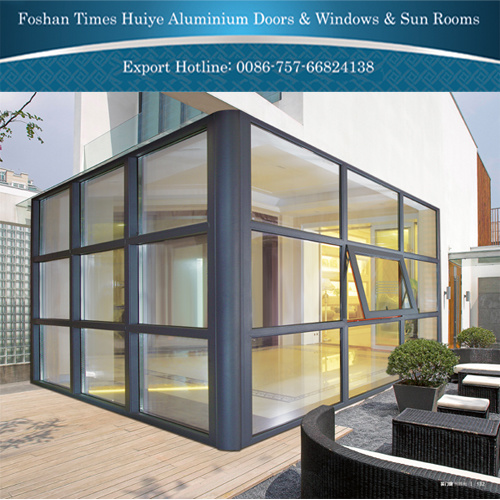 Aluminum Fixed Window with Double-Layer Tempered Glasses pictures & photos