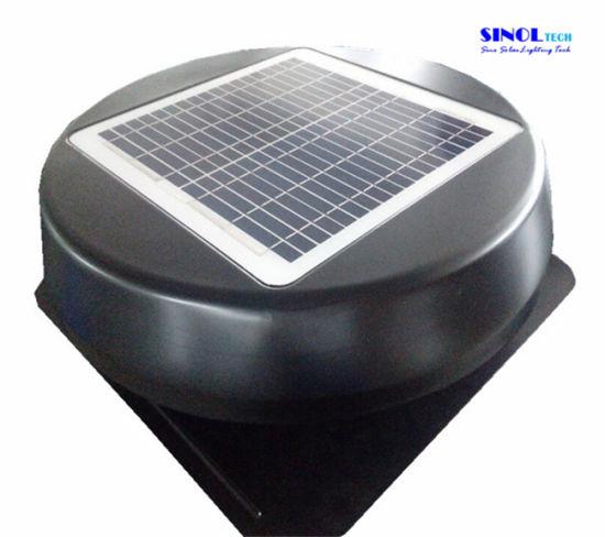 15w Tilt Solar Panel Round Cover 14inch Ed Roof Ventilation Fan Sn2017010