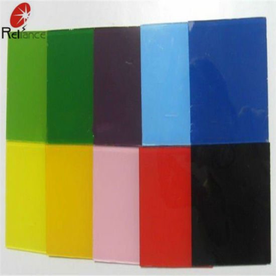 4mm Blue Painted Glass / Baking Glass (Black, Green, White, Yellow, Pink) pictures & photos