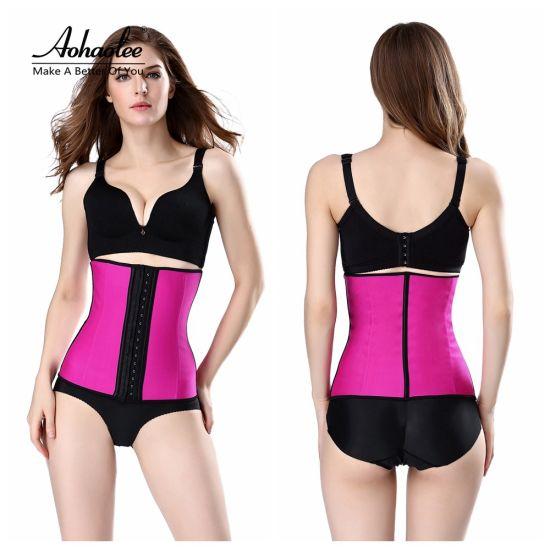 a4859cecb Waist Trainer Corsets Hot Shapers Tummy Control Belts Latex Waist Cincher  Women Girdles Fajas Workout Body Shaper