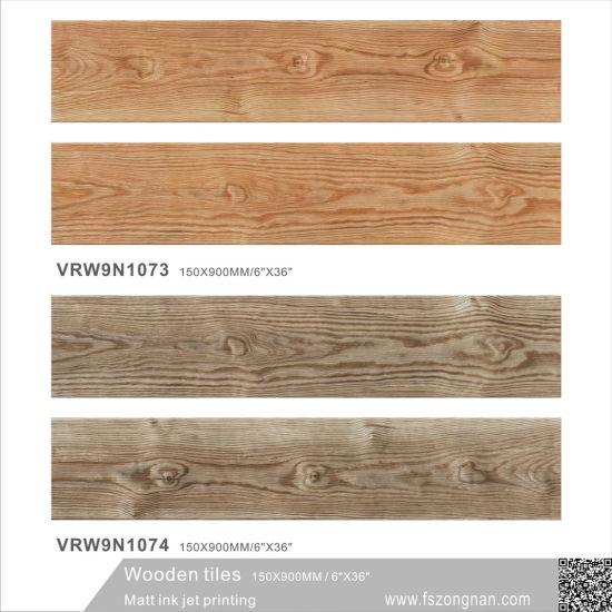 Ceramic Matt Building Material Wooden Floor Tile for Decoration (VRW9N1073, 150X900mm) pictures & photos