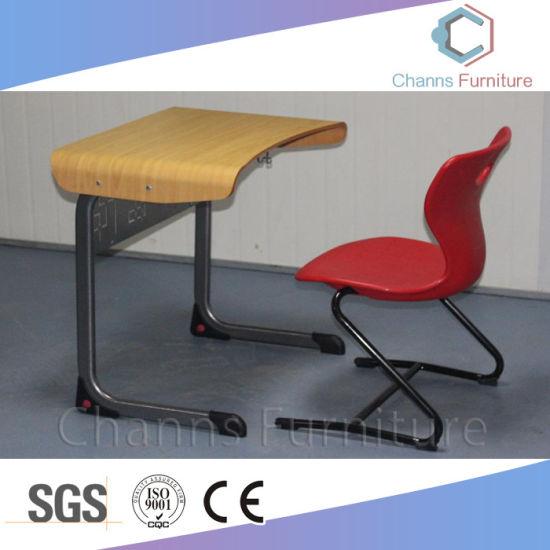 Wooden Curve Desktop Student Furniture About School Project (CAS-SD1836)