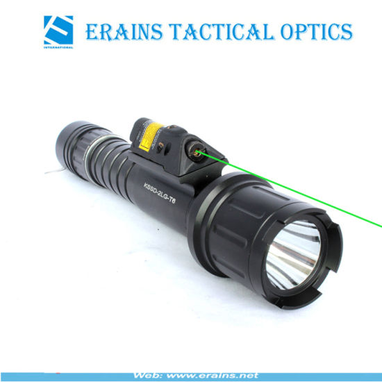 Tactical Quick Start Green Laser Sight and Strobe 500 Lumens CREE T6 LED Flashlight Combo pictures & photos