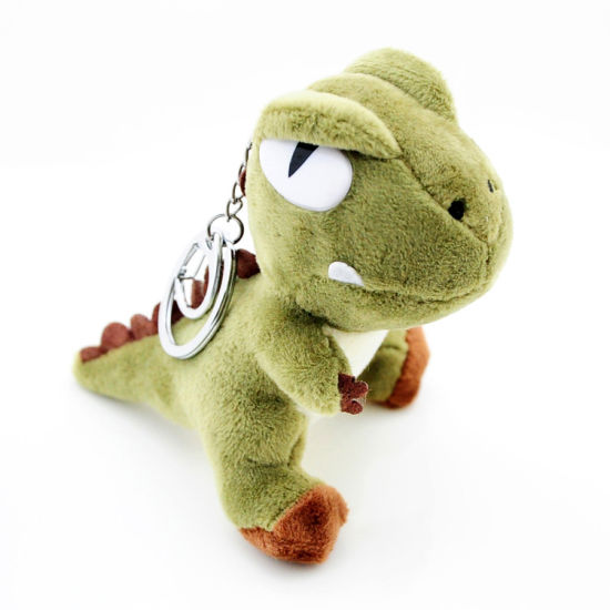 Lovely 10cm Plush Dragon Keychain Toy with T Shirt Custom Logo Various Color for Clothes