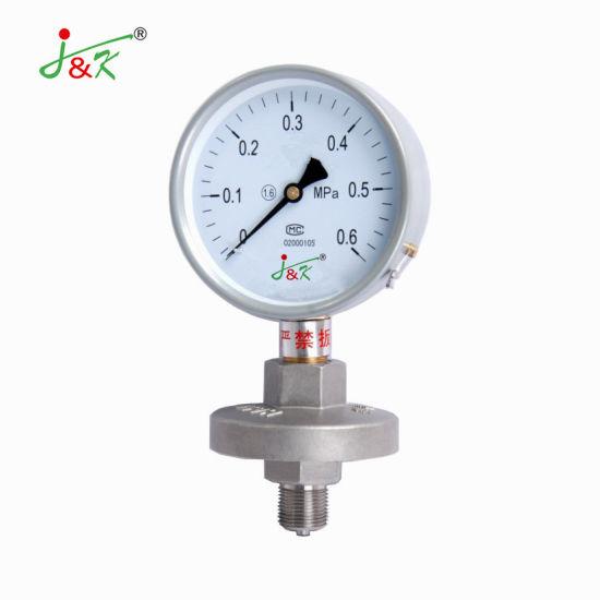 100mm Diaphragm Pressure Gauge of 2.5MPa