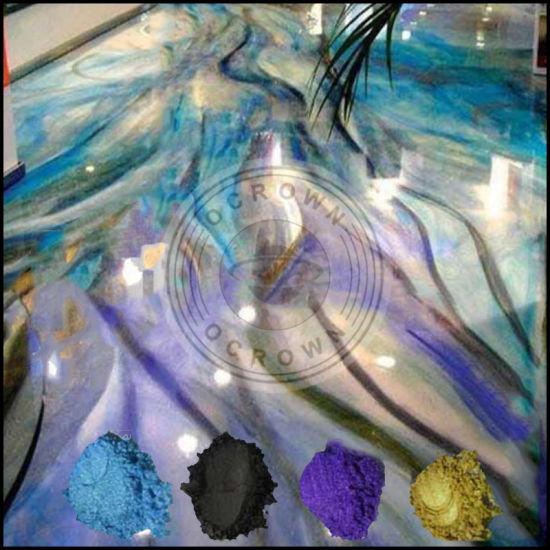 china resin art metallic epoxy 3d floor paint coating pigment powder